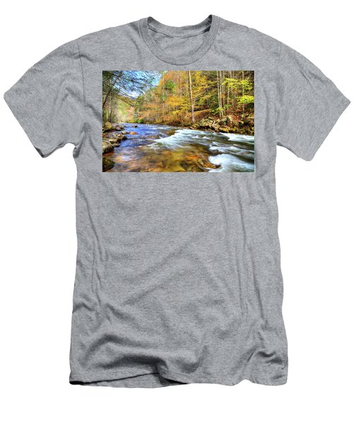 Whitetop River Fall Men's T-Shirt (Athletic Fit)