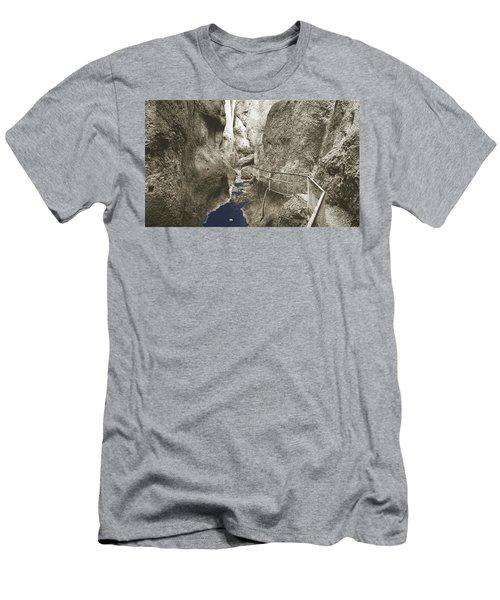 Whitewater Blu Men's T-Shirt (Slim Fit) by Jan W Faul