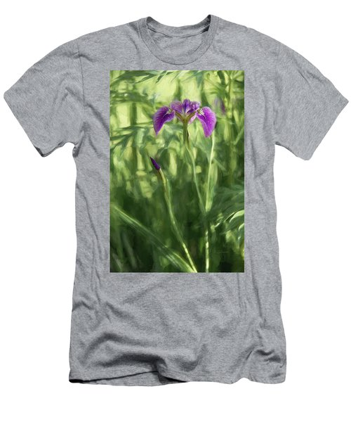 Men's T-Shirt (Athletic Fit) featuring the photograph Wild Alaskan Iris II by Penny Lisowski