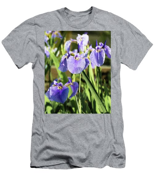 Men's T-Shirt (Athletic Fit) featuring the photograph Wild Alaskan Irises IIi by Penny Lisowski