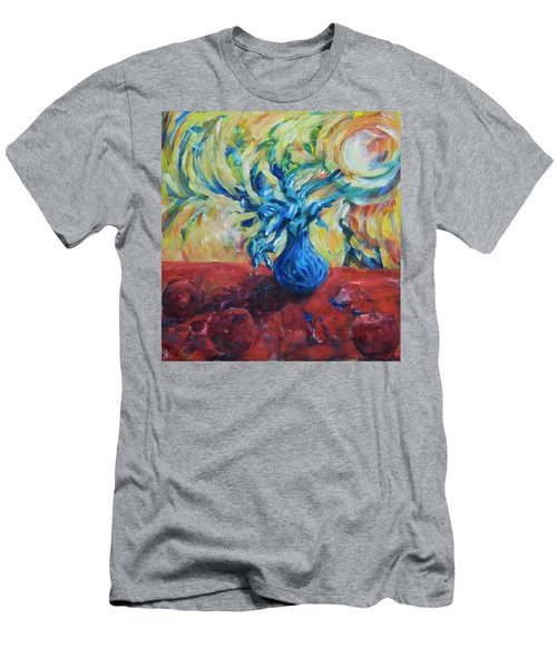 Men's T-Shirt (Athletic Fit) featuring the painting Wild Flower by Yulia Kazansky