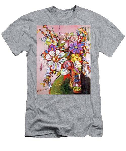 Wild Flowers Men's T-Shirt (Slim Fit) by Sharon Furner