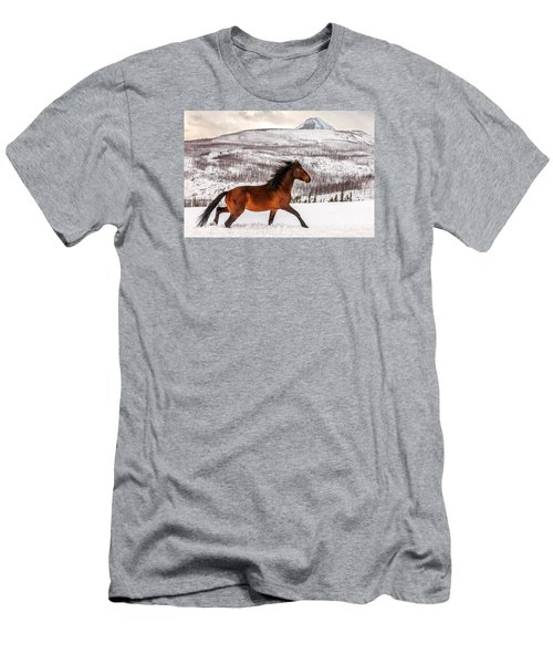 Men's T-Shirt (Athletic Fit) featuring the photograph Wild Horse by Todd Klassy