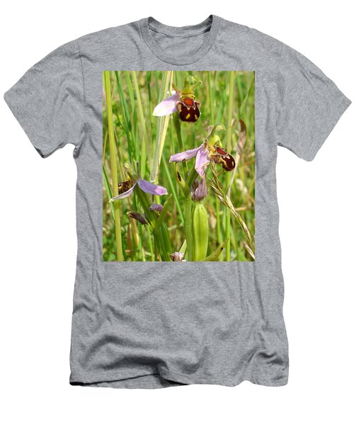 Wild Meadow Bee Orchids Men's T-Shirt (Athletic Fit)