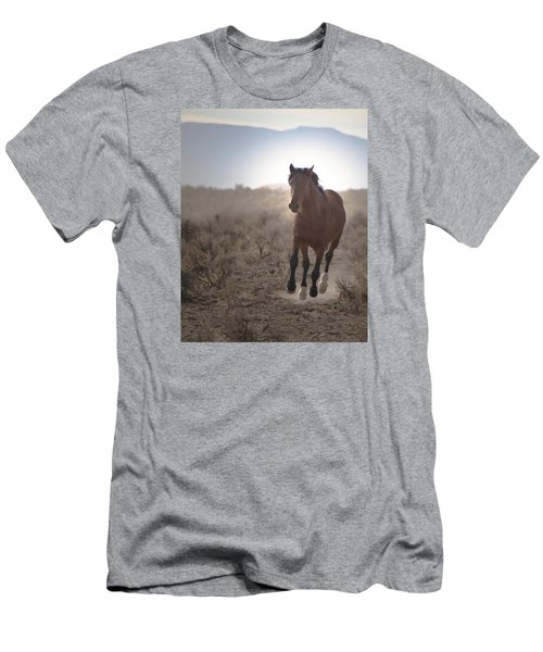 Wild Mustang Stallion Running Men's T-Shirt (Athletic Fit)