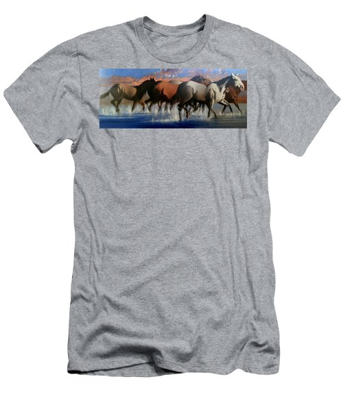 Wild Mustangs Of The Verder River Men's T-Shirt (Athletic Fit)