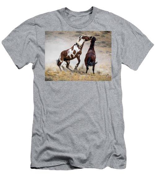Wild Stallion Battle - Picasso And Dragon Men's T-Shirt (Slim Fit) by Nadja Rider
