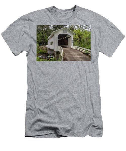 Wildcat Creek Bridge No. 1 Men's T-Shirt (Athletic Fit)