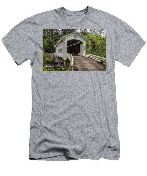 Wildcat Creek Bridge No. 1 Men's T-Shirt (Athletic Fit)