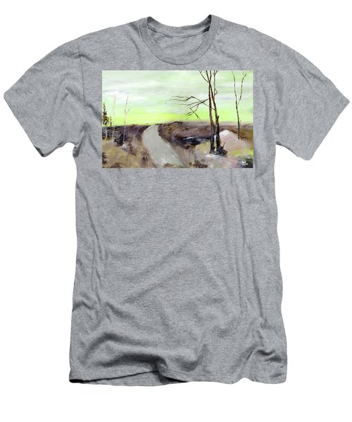 Men's T-Shirt (Slim Fit) featuring the painting Wilderness 2 by Anil Nene