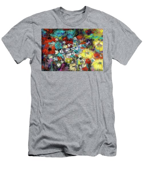 Wildflower Field Men's T-Shirt (Slim Fit) by Frances Marino