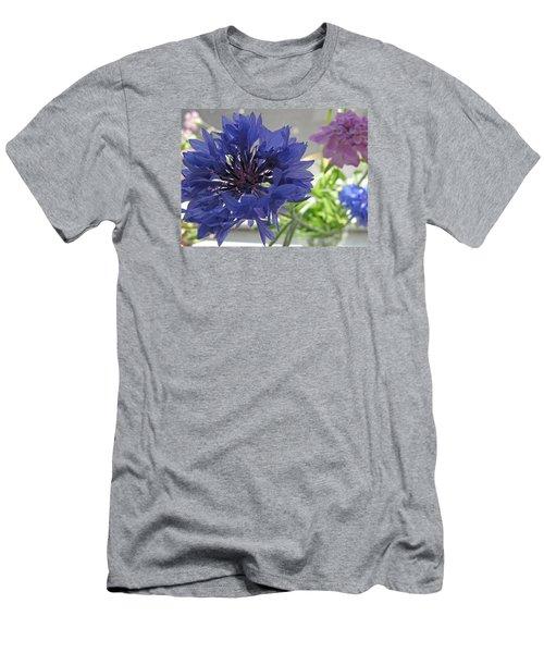 Wildflower Fluff Men's T-Shirt (Slim Fit) by Barbara McDevitt
