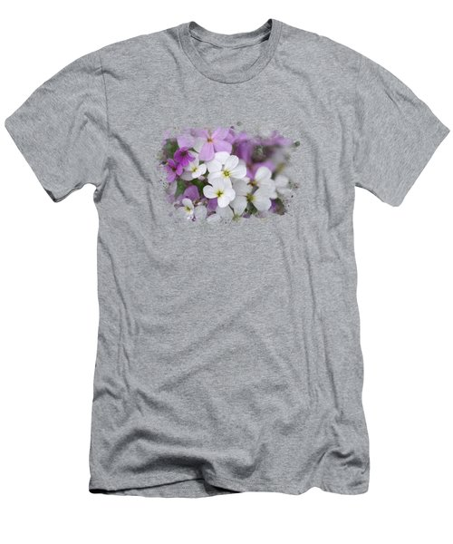 Wildflower Watercolor Art Men's T-Shirt (Athletic Fit)