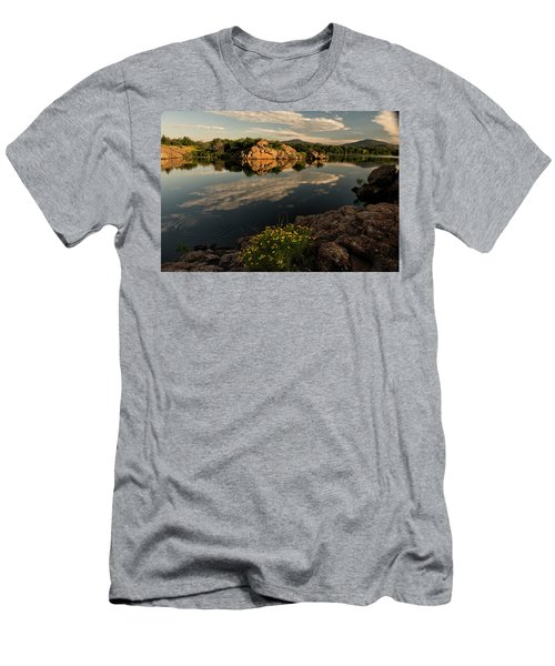 Wildflowers At The Lake Men's T-Shirt (Athletic Fit)