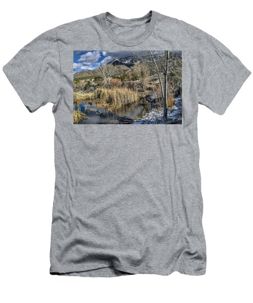 Men's T-Shirt (Slim Fit) featuring the photograph Wildlife Water Hole by Alan Toepfer