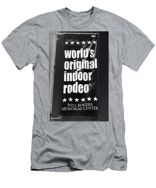 Will Rogers Rodeo Bw Men's T-Shirt (Athletic Fit)