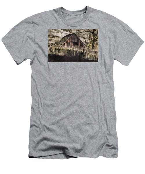Men's T-Shirt (Slim Fit) featuring the photograph Willets Barn by Shirley Mangini
