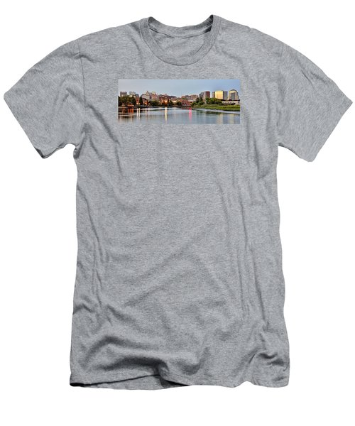 Wilmington Delaware At Dusk Men's T-Shirt (Slim Fit) by Brendan Reals