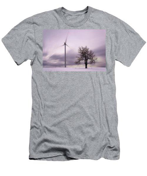 Wind Power Station, Ore Mountains, Czech Republic Men's T-Shirt (Athletic Fit)