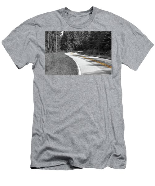 Winding Country Road In Selective Color Men's T-Shirt (Athletic Fit)