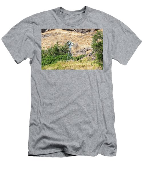 Windmill Aerator For Ponds And Lakes Men's T-Shirt (Athletic Fit)
