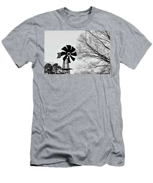 Windmill On The Farm Men's T-Shirt (Athletic Fit)