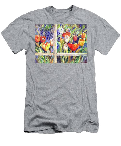 Window Box Tulips Men's T-Shirt (Athletic Fit)