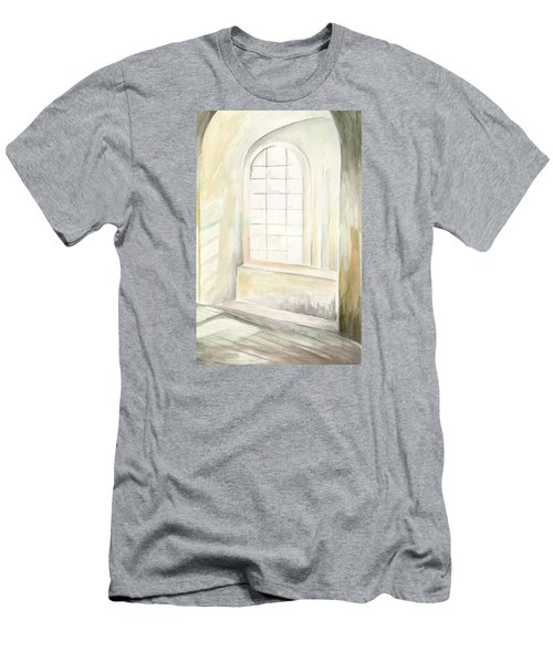 Men's T-Shirt (Athletic Fit) featuring the painting Window by Darren Cannell