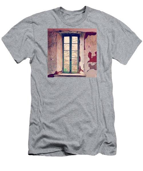 Window In Eastern State Pennitentiary Men's T-Shirt (Slim Fit) by Sharon Halteman