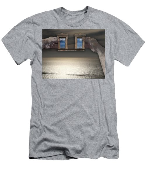 Window Hands Men's T-Shirt (Slim Fit) by Christopher Woods