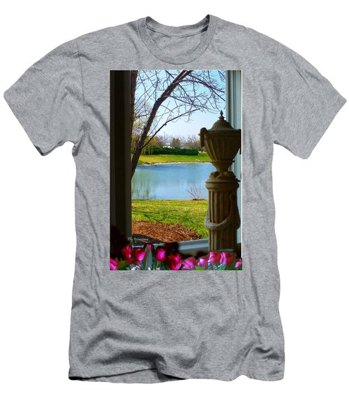 Window View Pond Men's T-Shirt (Athletic Fit)