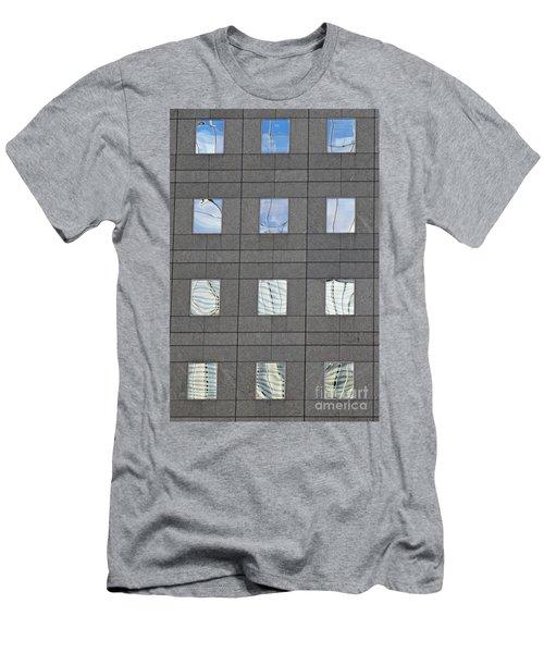 Men's T-Shirt (Slim Fit) featuring the photograph Windows Of 2 World Financial Center   by Sarah Loft