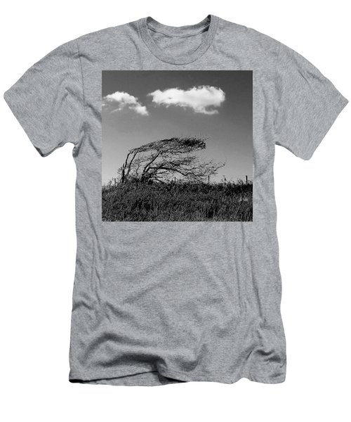 Men's T-Shirt (Athletic Fit) featuring the digital art Windswept by Julian Perry