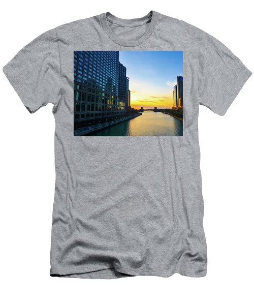 Windy City Sunrise Men's T-Shirt (Athletic Fit)