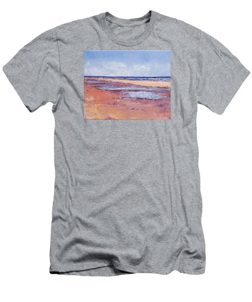 Windy October Beach Men's T-Shirt (Slim Fit) by Trina Teele
