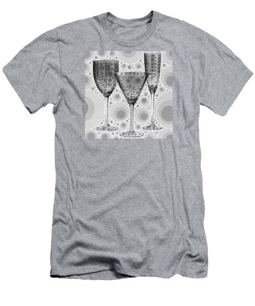 Men's T-Shirt (Slim Fit) featuring the digital art Wine Glass Art-3 by Nina Bradica