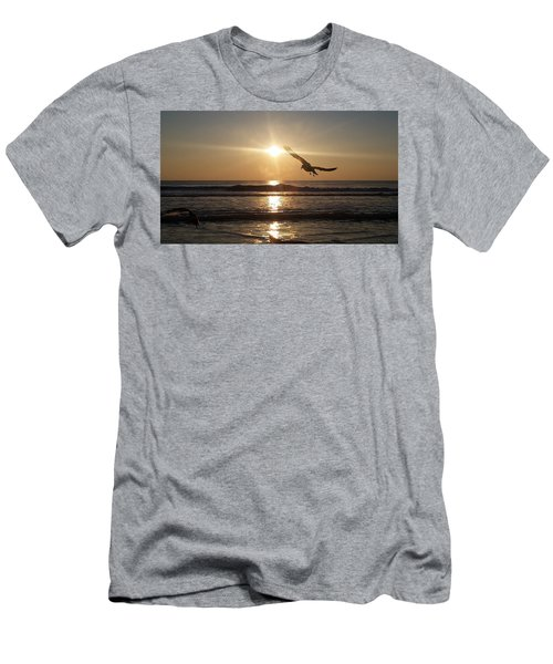 Wings Of Sunrise Men's T-Shirt (Athletic Fit)