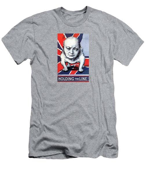 Winston Churchill Holding The Line Men's T-Shirt (Athletic Fit)
