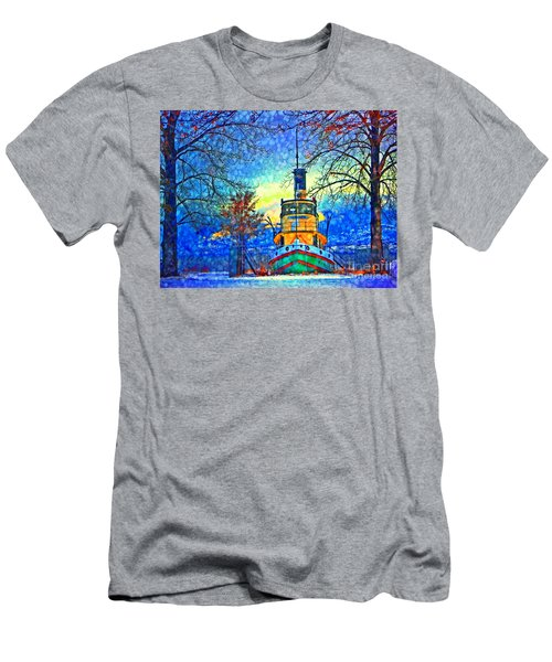 Winter And The Tug Boat 2 Men's T-Shirt (Athletic Fit)