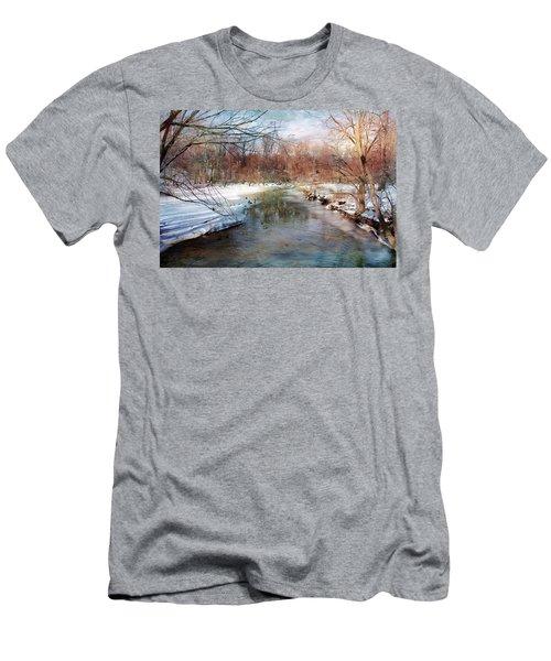 Winter At Cooper River Men's T-Shirt (Athletic Fit)
