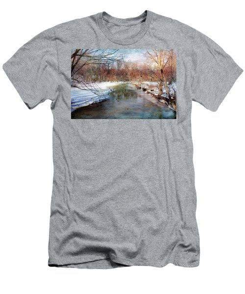 Winter At Cooper River Men's T-Shirt (Athletic Fit)