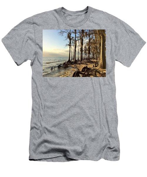 Winter At Fontainebleau State Park, Lake Pontchartrain, La Men's T-Shirt (Athletic Fit)