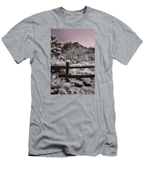 Men's T-Shirt (Slim Fit) featuring the photograph Winter At Garden Of The Gods by Ellen Heaverlo