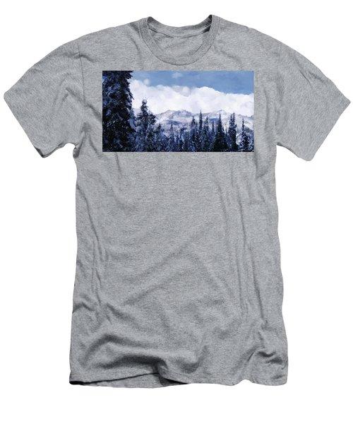 Winter At Revelstoke Men's T-Shirt (Slim Fit) by Debra Baldwin