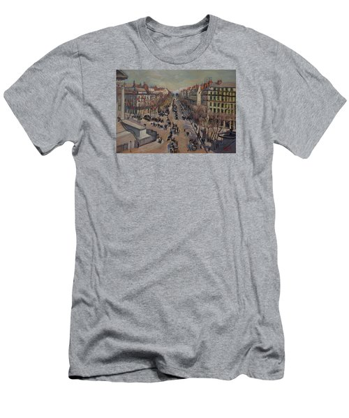 Winter At The Boulevard De La Madeleine, Paris Men's T-Shirt (Athletic Fit)
