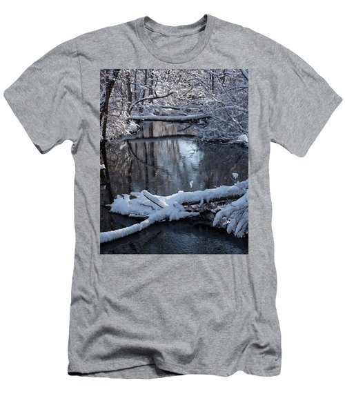 Winter At The Brook Men's T-Shirt (Athletic Fit)