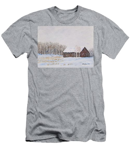 Winter Barn Men's T-Shirt (Slim Fit) by Stanton Allaben
