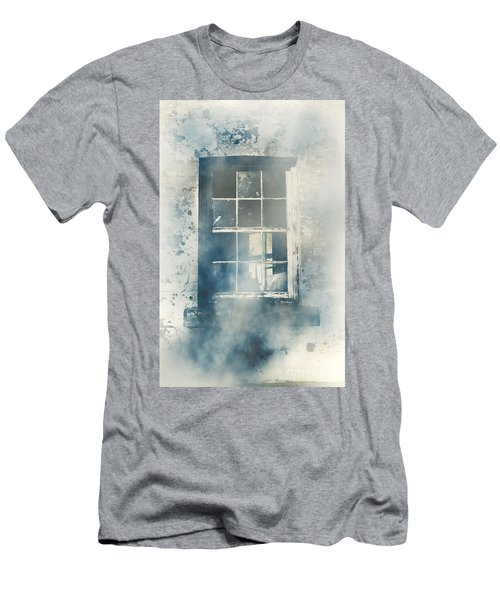 Winter Blues And Broken Windows Men's T-Shirt (Athletic Fit)