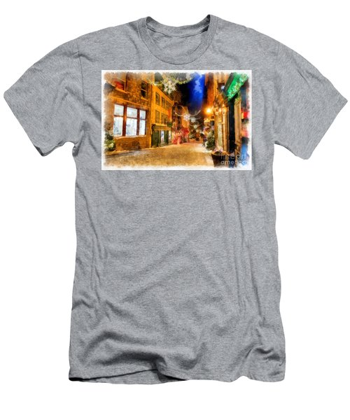 Winter Carnival Old Quebec City Lower Town Men's T-Shirt (Athletic Fit)