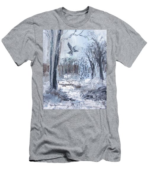Men's T-Shirt (Athletic Fit) featuring the painting Winter Caws by Robin Maria Pedrero